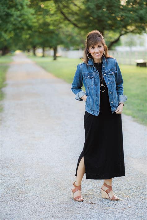 Dress Ebuty Denim black maxi dress denim jacket grace