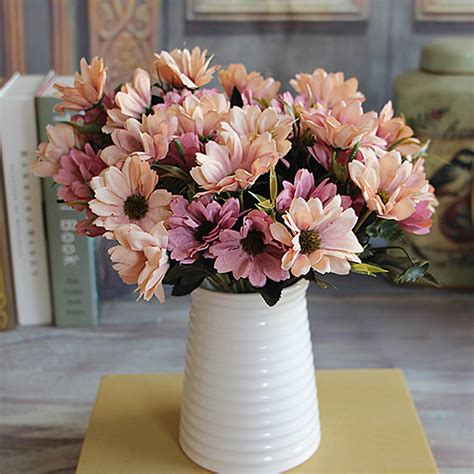 15 floral arrangements with flowering branches spring 6 branches 10 head floral artificial flower bouquet silk