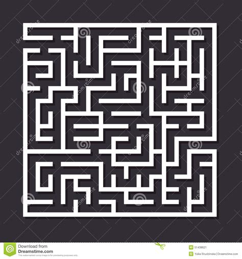 How To Make A Maze On Paper - maze paper labyrinth stock vector image 51438621