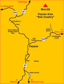 map of payson arizona payson arizona map directions to payson az