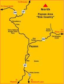 payson arizona map directions to payson az