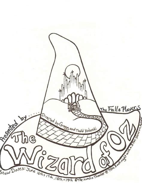 Wizard Of Oz Coloring Coloring Home Wizard Of Oz Printable Coloring Pages