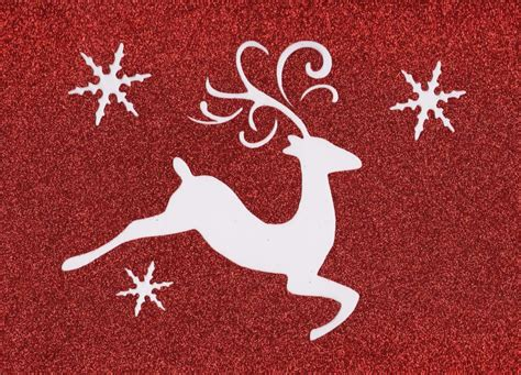 stencil christmas winter reindeer snowflakes whimsical ebay