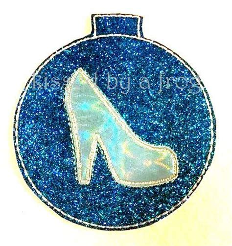 cinderella glass slipper ornament disney princess cinderella inspired felt ornament