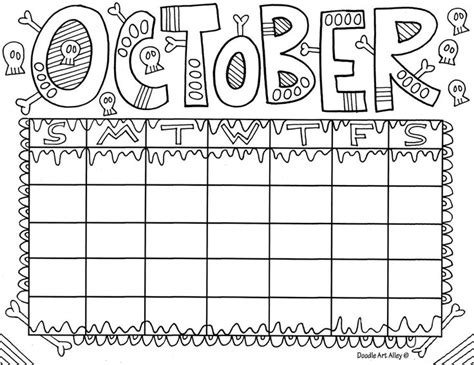 doodle alley calendar 17 best images about month coloring on colors
