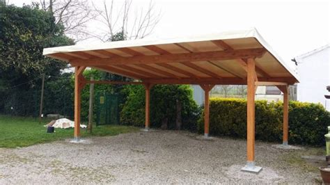 gazebo copriauto struttura tettoia copriauto 600x500 cm legno a