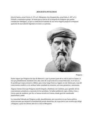 calam 233 o biografia de pitagoras