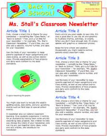 school newsletter templates school newsletter template images