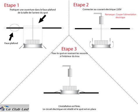 Installation Spot Led Plafond by Plafonnier Led 5w Encastrable Blanc