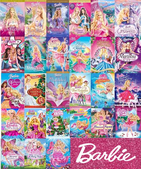 barbie film videos list of every single barbie movie ever made in order made