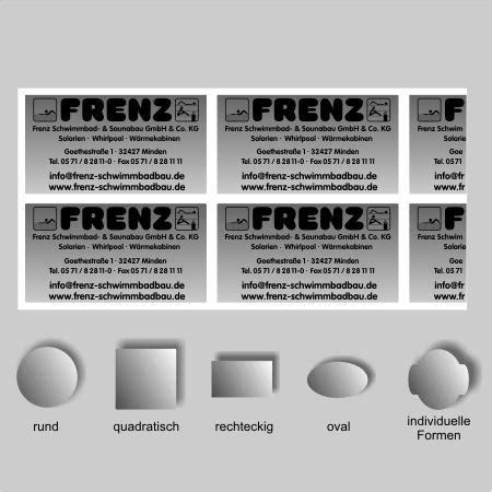 Aufkleber Drucken Konturschnitt by Werbe Discounter Webshop Aufkleber Mit Konturschnitt