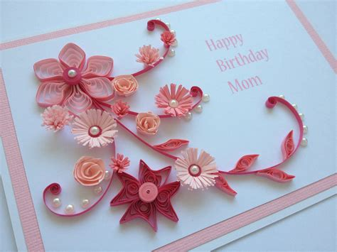 Paper Flowers For Cards - handmade quilled paper birthday card flowers by