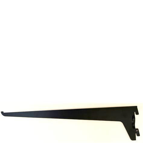 Adjustable Shelf Track by Single Slot Black Bracket 250mm Mastershelf