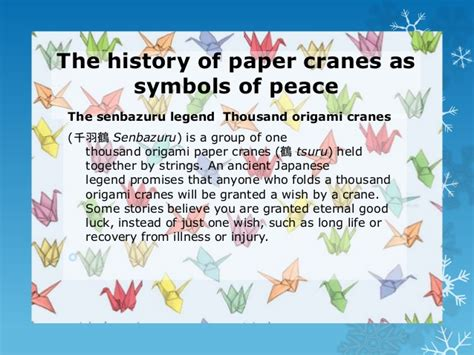 Meaning Of The Origami Crane - 2013 14 syria origami cranes for peace