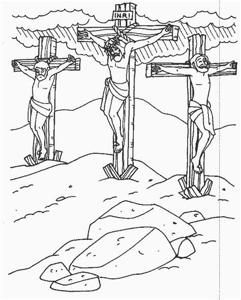 coloring pages jesus died on the cross planşe de colorat răstignirea viaţa la ţară