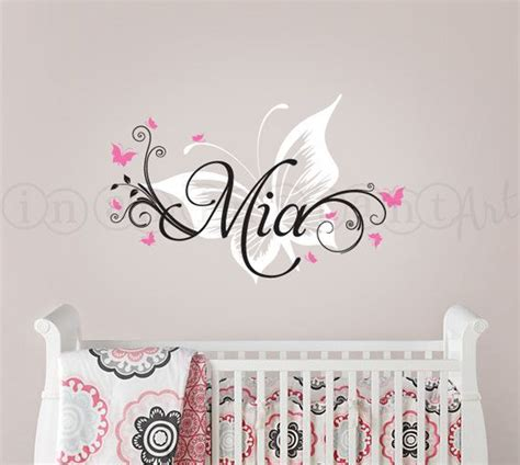 butterfly and custom name wall decal butterfly nursery