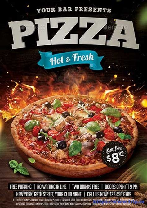 pizza flyer template free 35 best pizza restaurant flyer print templates 2017 frip in
