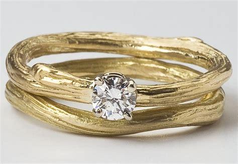 eco chic bridal ring set engagement ring