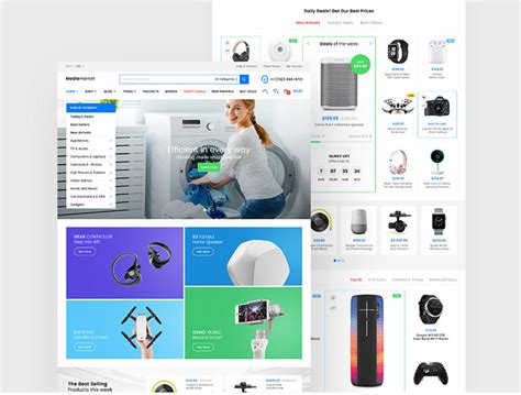ecommerce psd templates free download choice image