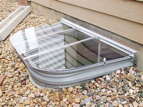 basement window wells mesh metal and polycarbonate