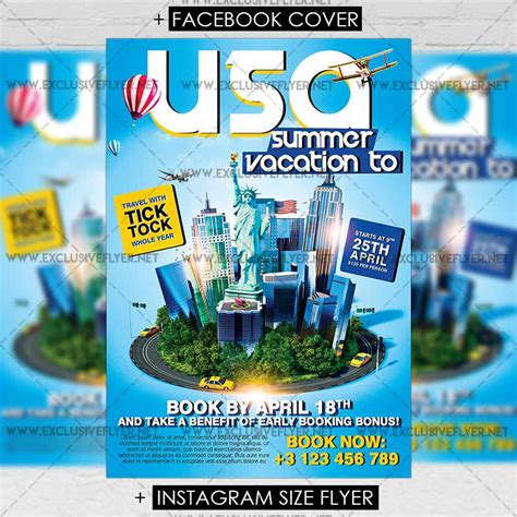 templates for a5 flyers vacation to usa premium a5 flyer template