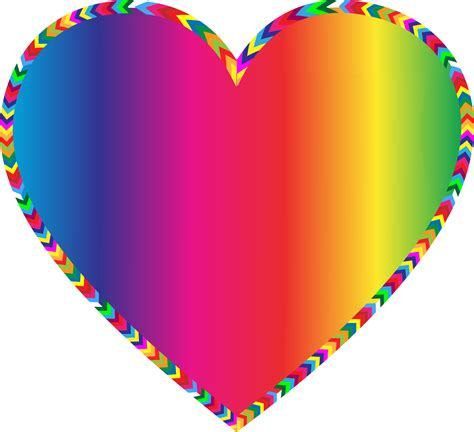 colored hearts multi