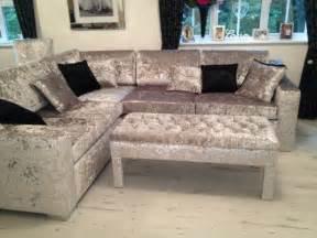 bespoke crushed velvet corner sofa interiors