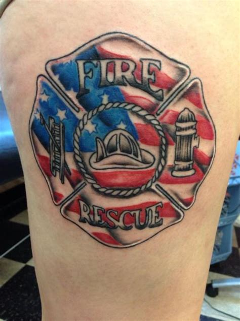 fire dept tattoos firefighter