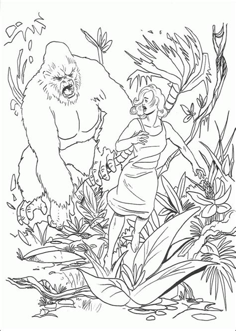 free coloring pages of king kong king kong coloring pages coloringpagesabc com