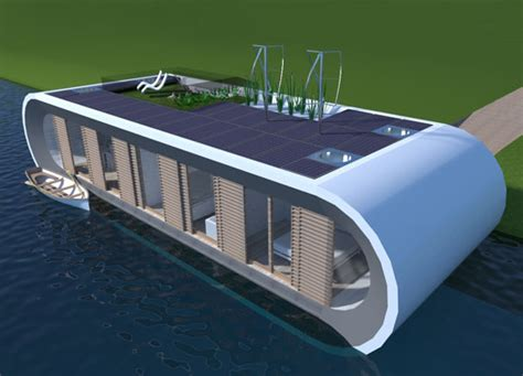 Wonen Op Een Woonboot by Duurzame Drijvende Woning Ontwerp Architect Floating Home