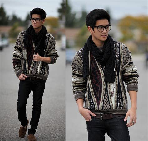 boys youve got to hide your away adrian sav mor thrift really patterned jumper sav