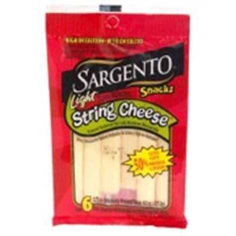 Sargento Cheese Snacks Light String Mozzarella Light Mozzarella String Cheese