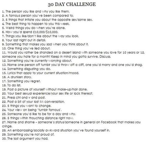 30 day pony challenge facebookcom 30 day personal challenge