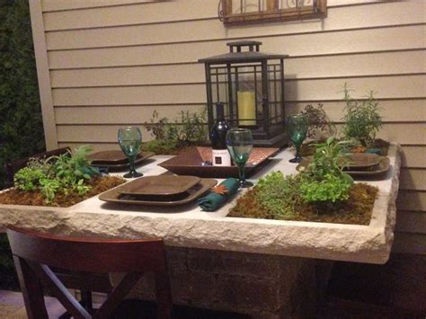 table top herb garden herb garden table flowers and garden ideas pinterest