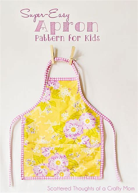 pattern for simple apron easy child s apron pattern and tutorial toddler apron