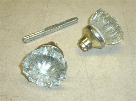 Door Knobs Ebay by Vintage Tegco Glass Door Knobs W Brass Finish Ebay