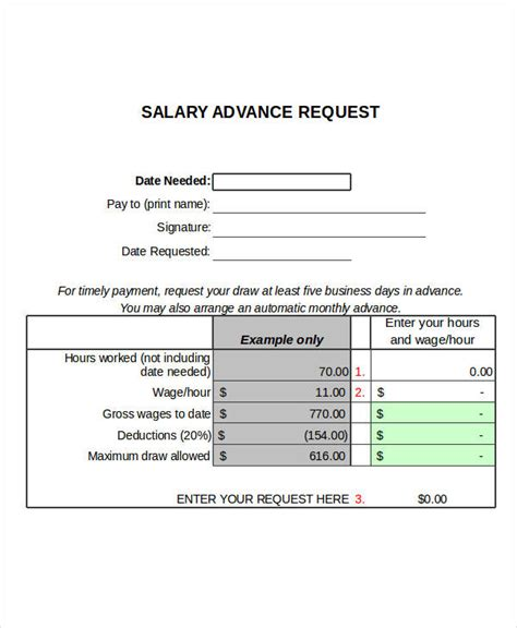 Advance Letter Exle how to write salary advance request image collections cv letter and format sle letter
