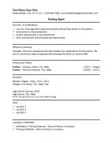 Booking Resume booking resume template