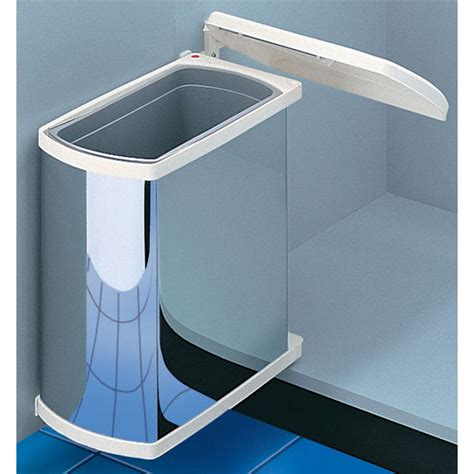 trash can attached to cabinet door hafele swing out waste bin for vanity or kitchen cabinet