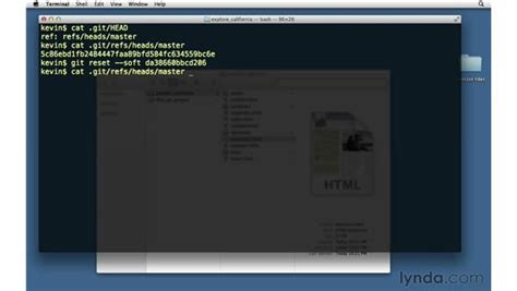 git video tutorial lynda demonstrating a soft reset
