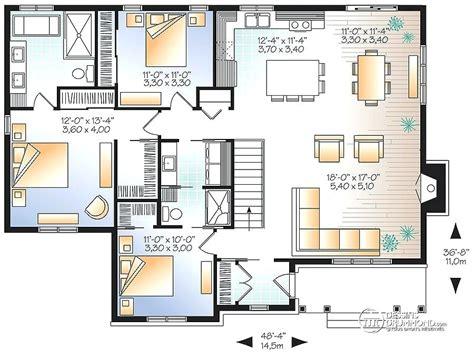 Plan Maison 100m2 Plein Pied 4115 by Sol Plan Maison 100m2 Plein Pied 3 Chambres Meilleure