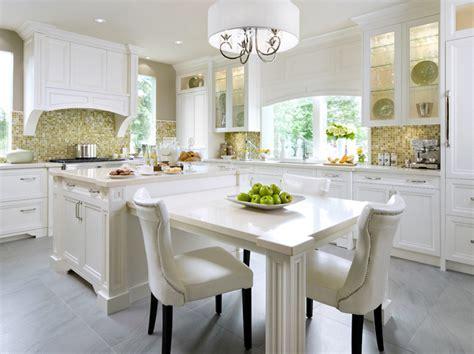 Kitchen Island Table Design Ideas Yellow Mosaic Tiles Contemporary Kitchen Brandon Barre Photography