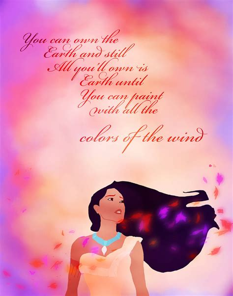 Colors Of The Wind Lyrics We Love Disney