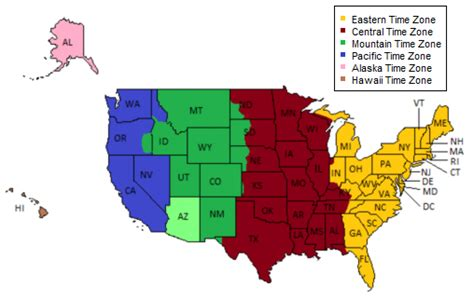 usa time zone converter map daylight savings time zones usa