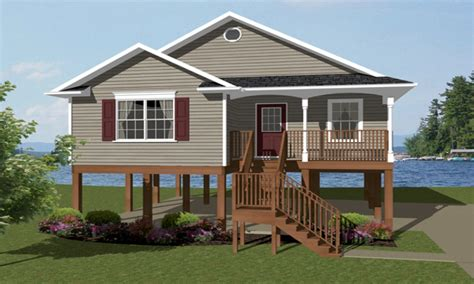 elevated house plans one story house plans coastal