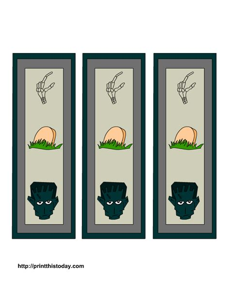 printable skull bookmarks free printable halloween bookmarks