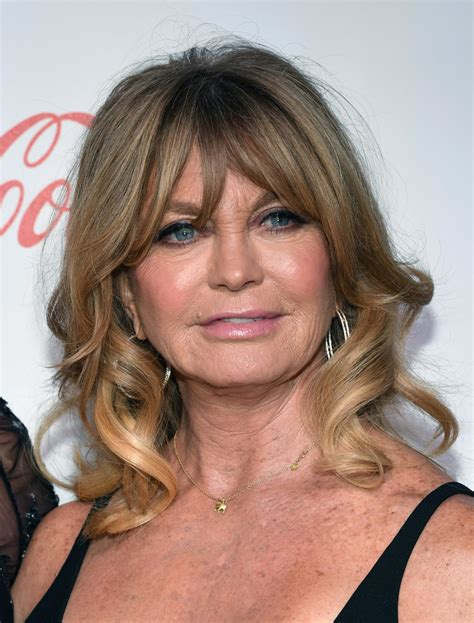 Goldie Hawn Hairstyles by Goldie Hawn Medium Curls With Bangs Shoulder Length