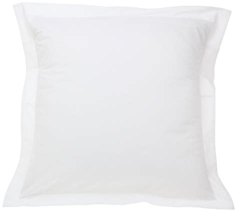 fresh ideas tailored poplin pillow sham white single
