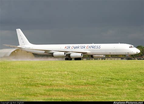 9g axa air charter express douglas dc 8 63f at lyneham photo id 59879 airplane pictures net