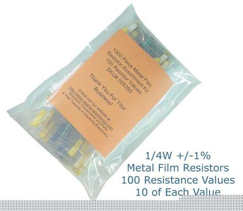 available resistor values assortment kit 1 4w 1 metal resistors 100 values